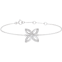 Armband Frische - Sommerlilie - Weißgold