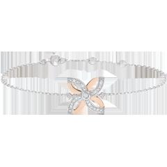 Armband Frisheid - Zomerbloem - wit goud,roze goud