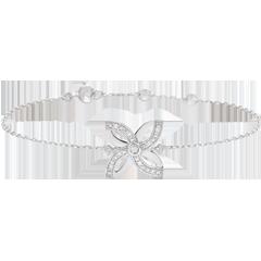 Armband Frisheid - Zomerbloem - wit goud