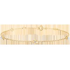 Armband Ontluiking - Kroon van rozen - Diamanten - 9 karaat geelgoud