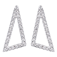 Astral Square Earrings - 18K white gold and diamonds