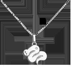 Baby slang - groot model - wit goud