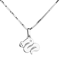 Baby snake - large model - white gold