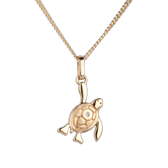 Babyschildpad - klein model - geel goud
