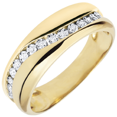 Bague Amour - Multi-diamants - or jaune - 9 carats