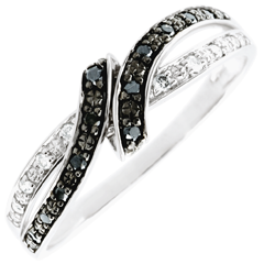 Bague Clair Obscur - Rendez-vous - diamants noirs - 18 carats