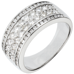 Bague Constellation - Cosmos - 62 diamants - or blanc 18 carats