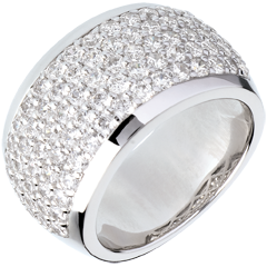 Bague Constellation - Paysage Céleste - or blanc pavé - 2.05 carats - 79 diamants