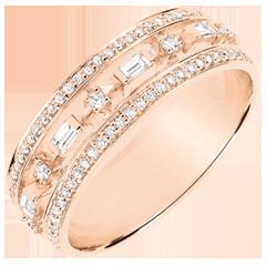 Bague Destinée - Petite Impératrice - 71 diamants - or rose 18 carats