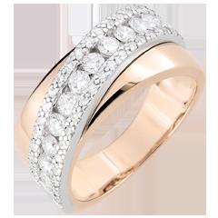 Bague Destinée - Victoria - or blanc et or rose 9 carats