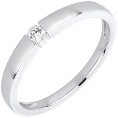 Bague diamant solitaire Vera or blanc 18 carats