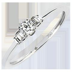 Bague de Fiançailles Abondance - Jayne - or blanc 18 carats et diamants