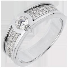 Bague de fiançailles Constellation - Diamant Solitaire - diamant 0.27 carat - or blanc 18 carats