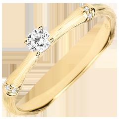 Bague de fiançailles Jungle Sacrée - diamant 0.09 carat - or jaune brossé 9 carats