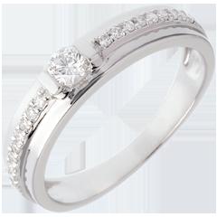 Bague de Fiançailles Solitaire Destinée - Eugénie - diamant 0.26 carat
