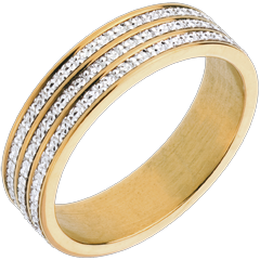 Bague finesse infinie - or blanc et or jaune 18 carats