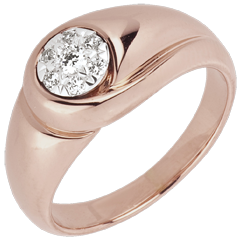 Bague Fraicheur - Bourgeon - or rose 18 carats
