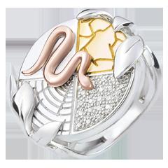 Bague Genèse - Esprit de la Terre - trois ors 9 carats
