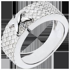 Bague Haute Couture Précieuse - or blanc 18 carats