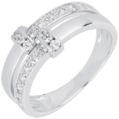 Bague istria or blanc 18 carats et diamants