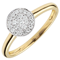 Bague Ma Constellation bicolore - or blanc et or jaune 9 carats