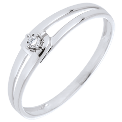Bague Modernity Diamant or blanc 9 carats - diamant 0.01 carat