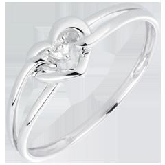 Bague Mon Amour - or blanc, diamant