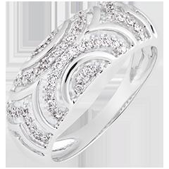 Bague Mona - or blanc 18 carats et diamants