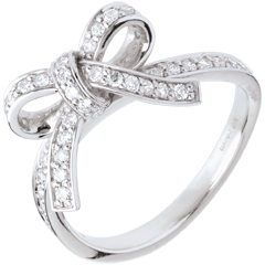Bague nouée diamants - or blanc - 0.423 carats