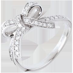 Bague nouée diamants - or blanc 18 carats - 0.423 carats
