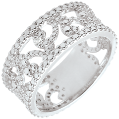 Bague or blanc et diamant - Varda