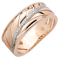 Bague Palme - or rose 9 carats et diamants