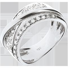 Bague Royale Saturne variation - or blanc 18 carats
