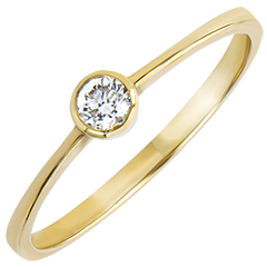 Bague Solitaire Origine - Innocence - or jaune 18 carats et diamant