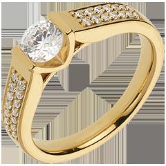 Bague sur mesure 30077 - solitaire diamant 0.5 carat