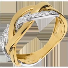 Bague Tresse précieuse or jaune 18 carats