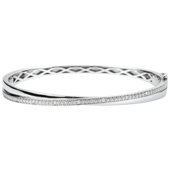Bangel Bracelet Saturn Duo - diamonds - white gold - 18 carats