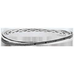 Bangel Bracelet Saturn Duo - white gold - black diamonds - 18 carats