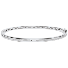 Bangle Belofte - wit goud en diamanten - 18 karaat