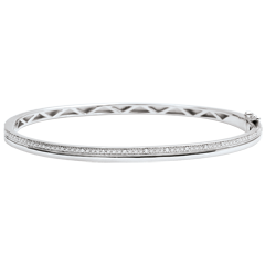 Bangle Elegantie - wit goud en diamanten - 9 karaat