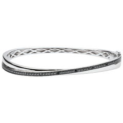 Bangle Saturnus Duo - zwarten wit goud - diamanten - 18 karaat