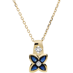Beautiful Sapphire Star Necklace