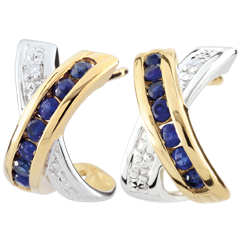 Bi-colour Gold Parma Earrings