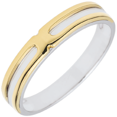Bi-colour Soltice Wedding Band