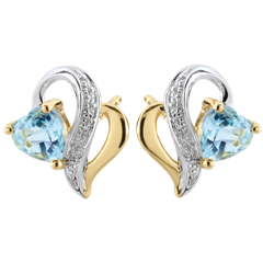 Blue Topaz Ouaki Earrings