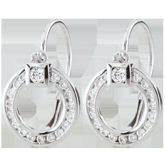 Boucle d'oreilles Lutine - or blanc 9 carats