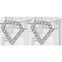 Boucles d'Oreilles Abondance - Diamantra - or blanc 9 carats et diamants