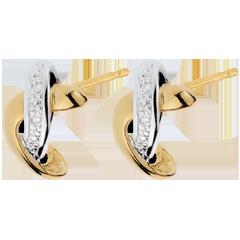 boucles d'oreilles admiration - or blanc et or jaune 18 carats