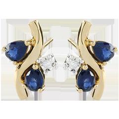 Boucles d'oreilles Algoma - saphirs et diamants