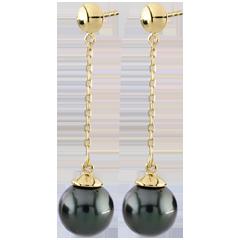 Boucles d'oreilles Amura or jaune - perles
